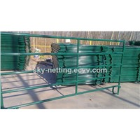 PVC coated round pipe horse fence panel
