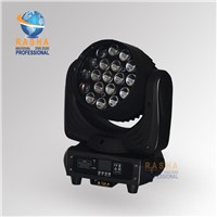 RASHA New Arrival 19pcs*12W 4in1 RGBW LED Moving Head Beam+Wash+Zoom 3in1 For Theater Studio