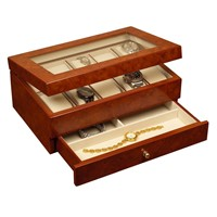 Luxury new leather wood watch box China replica watch factory