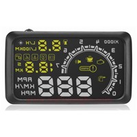 ouchuangbo car HUD OBD head up display speed water temperature rotate gear change overspee