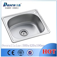 DS5042 Above counter stainless steel portable kitchen sink