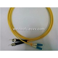 Fiber Optic Patch Cord LC-ST SM Simplex PVC LSZH HYTREL