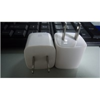 white color USB wall charger travel charger mobile phone adapter