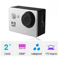 No WiFi Underwater Action Camera 2.0 inch Display 170 Degree Angle FHD 1080P