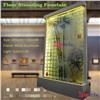 indoor floor standing glass fountain led fountain water curtain glass decor
