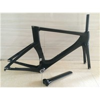 T800 carbon UD Carbon Triathlon Time Trial TT Bike Frame & Fork 54/56cm BSA Gloss