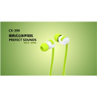 CX390 NOISE ISOLATION FASHION COLOR CABLE PLASTIC HIGH PERFORMANCE IN-EAR HEADPHONE