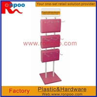 Counter Top Slatwall Display,Rotatable Display Shelf, Custom Double Sided Leg Warmer Rotating