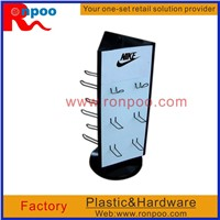 Display Rack for Hanging Items,Counter Top Slatwall Display,Shoe Free Standing Display,Shoe Fitting