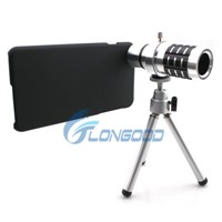Aluminum 12X Zoom Telescope Camera Lens Kit + Tripod + Case for iPhone 6 Plus 5.5""
