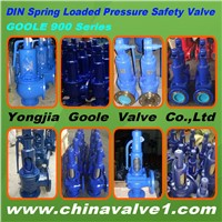 DIN standard spring loaded pressure safety valve