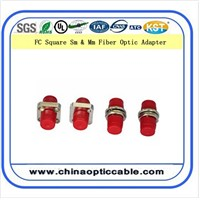 FC/PC to FC/PC Square Type Fiber Optic Adapter
