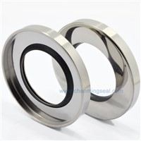 Screw Compressor Oil Seal With Single PTFE Sealing Lip Stianless Steel Ring