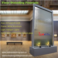 floor standing indoor waterfall fountain glass fountain water wall decor