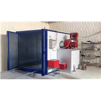 pco28501d powder coating curing oven with diesel riello burner