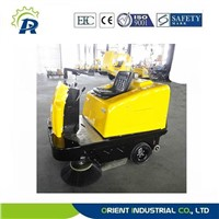 samll floor sweeping machine with two brushes