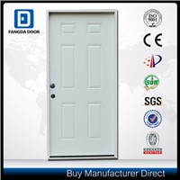 Fangda best quality 6 panel pre-hung exterior door