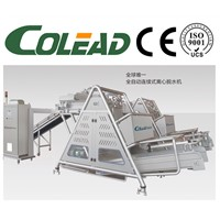 Full automatic continuous centrifugal dewatering machine