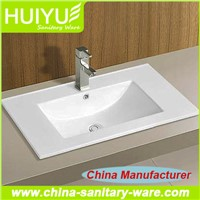 Hot Sale Bathroom Ceramic Hand Wash Basin Price Bathroom Cabinet Basin