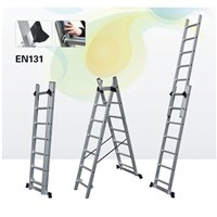 aluminum extension ladder 2x7steps for household using maximum load 150kgs FOB Ningbo 23.8USD