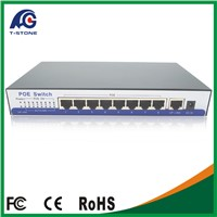 IEEE802.3af PoE Switch 8 Port For IP Camera Power Over Ethernet PoE For IP Camera System