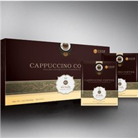 Ganoderma lucidum cappuccino coffee for refresh mind