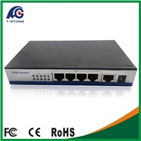 poe switch 4 port in network switches IEEE802.3AF 48V mini size metal case(TSD-PSE104F)