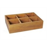 Antique Wood Storage Box for Table