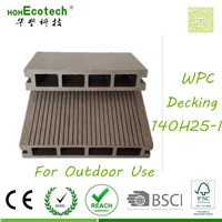 CE ASTM composite anti-crack outdoor wpc decking
