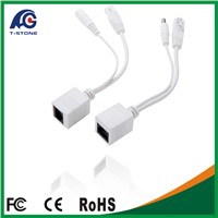 RJ45 POE Kits Cable Ethernet Network Cable RJ45 Female to DC 5521mm Splitter Cable