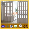 pvc folding door with glasses high quality