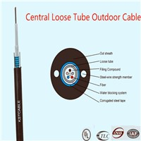 Central Loose Tube Outdoor Cable;steel tap armored uni-tube;steel-wire parallel member  GYXTW