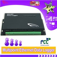 Multipoint Network Data Logger for flow meter