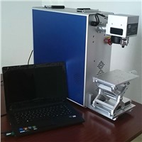 portable 10w stainless steel, aluminum, copper fiber laser marking machine