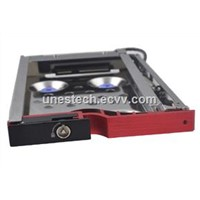 2.5In Single Bay SATA Aluminum panel Anti-Vibration proof hdd mobile rack supports hot swap