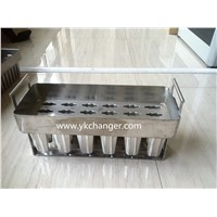 stick house ice cream mould stainless steel 4X6 24pieces including stick holder