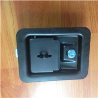 Black coated industrial cabinet 3 point locking paddle lock