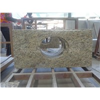 Gold Brasil Granite Vanity Tops, Yellow Granite Bathroom Tops