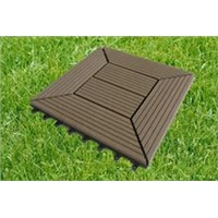 interlock WPC Tiles Wholesale hot wood easy install patio flooring