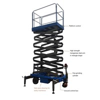 Electrical hydraulic mobile scissor lift manganese steel for material handling