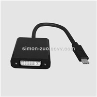 USB 3.1 C Type Male to DVI Female Converter with IC Solution Cable