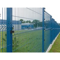 square post wire mesh fence