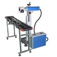 fast speed 20w flying fiber laser marking machine for metal and plastic parts