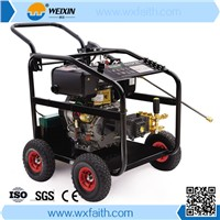 Four wheeled portable diesel engine high pressure washer, 3600PSI high pressure washer