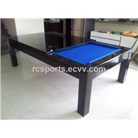 7ft solid wood pool dining table