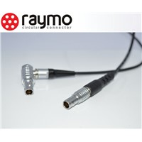 8 pin audio video cables and connectors lemo compatible FGG plug to FHG elbow plug for video camera