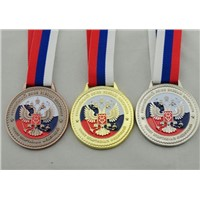 Factory direct sale production metal stand gold award medal
