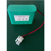 Rechargeable NiMH Battery Pack 12V AA 1500mAh in Serial with Connector