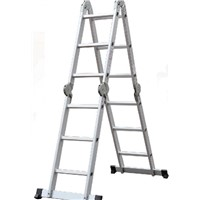 16 steps aluminium ladder