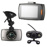 Dual Camera Car DVR 2.7-inch LCD 140 Degree Lens HD 720P Night Vision LEDs OEM